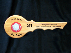 Rimu 21st Key for Blaze with Black Vinyl Lettering