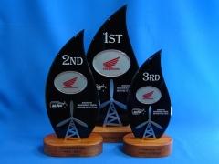 Custom trophies for Manawatu Orion Motorcycle Club