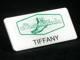 Shoe Clinic name badge