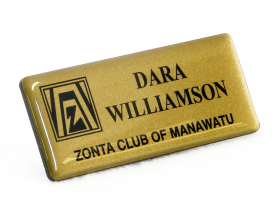 Name badge for the Zonta Club of Manawatu