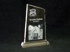 3d school crest | Alumni crystal for NPBHS