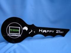 Black acrylic 21st key