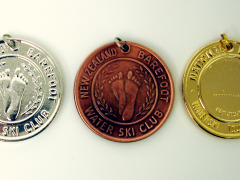 NZ Barefoot Water Ski Club Medals