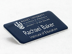 Name badge for the Institute of Education at Massey University