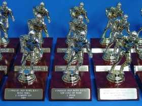 College Old Boys RFC miniature trophies for 2009