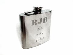 RJB - Man Myth Legend hipflask
