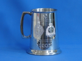 Nugget's 30th Tankard with Army Corps Crests